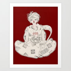Clasped by Sickness Art Print