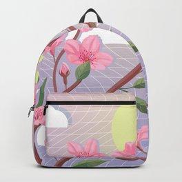 80s Tokyo Art - Retro Otaku Japanese Cherry Blossom Sakura Backpack