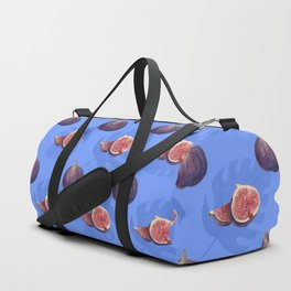 Figs and tropical leaves pattern Duffle Bag