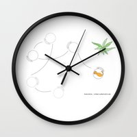 home alone Wall Clocks featuring Home Alone by Ceren Dabag