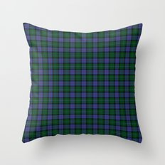 Clerke of Ulva Tartan Throw Pillow