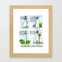 Mississippi Lighthouses Framed Art Print