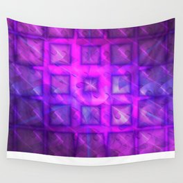 Shiny Purple Buttons [Remix] Wall Tapestry
