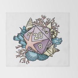 Mermaid D20 Tabletop RPG Gaming Dice Throw Blanket