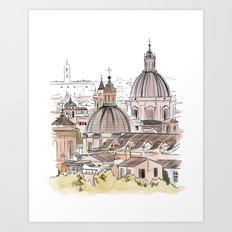 Views of Florence - Italian cityscape Art Print