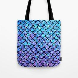 Purples & Blues Mermaid scales Tote Bag