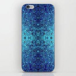 Deep blue glass mosaic iPhone Skin