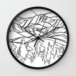 Mountain Pulse Wall Clock