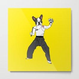 Kungfu Bulldog Lee Metal Print