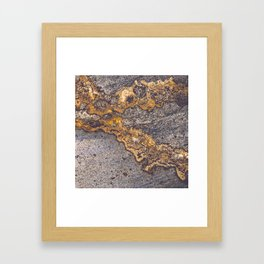 Gold Inlay Marble II Framed Art Print
