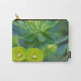 Little Green Flowers Carry-All Pouch