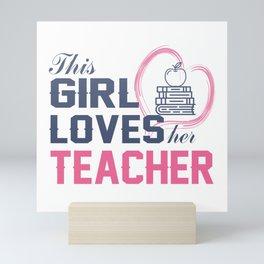 Loves Her Teacher Mini Art Print