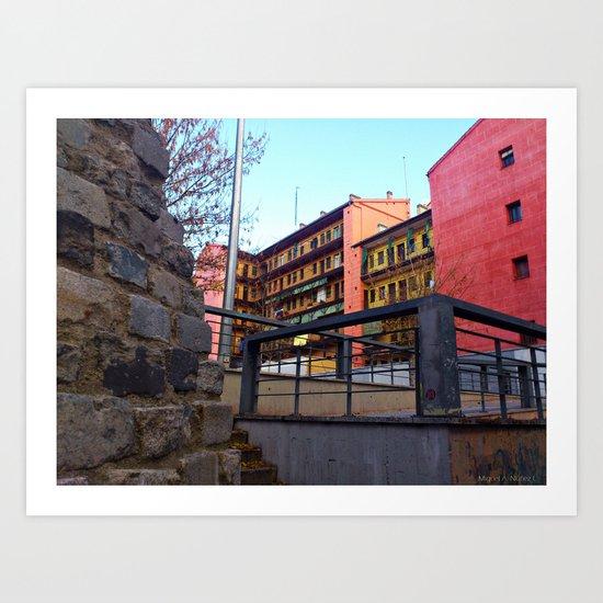 Old Town of Madrid - Lavapiés Art Print
