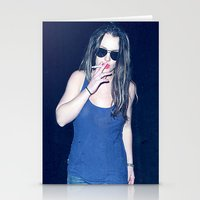 britney spears Stationery Cards featuring Britney Spears Smoking by KBK24