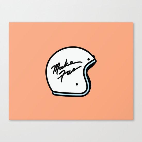 Make Fun Moto Helmet Canvas Print