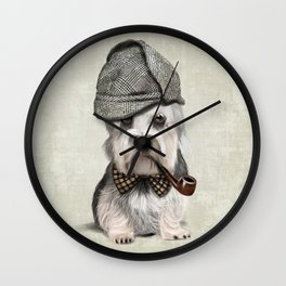 Sir Dandie Dinmont Terrier Wall Clock