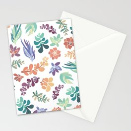 summertime succulents Stationery Cards