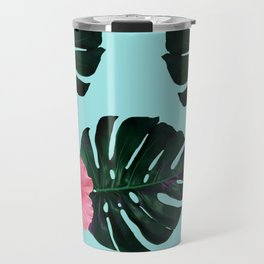 Tropical pattern n.1 - pale blue Travel Mug