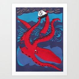 The Kraken Art Print