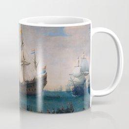 """Hendrick Cornelis Vroom """"Het uitzeilen van een aantal Oost-Indiëvaarders"""" Coffee Mug"""
