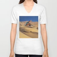 oasis V-neck T-shirts featuring Oasis by Lerson