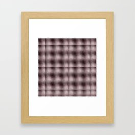 Pale Millennial Pink Pastel and Black Houndstooth Check Framed Art Print