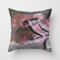 degas Throw Pillows featuring ballerina. by PureVintageLove