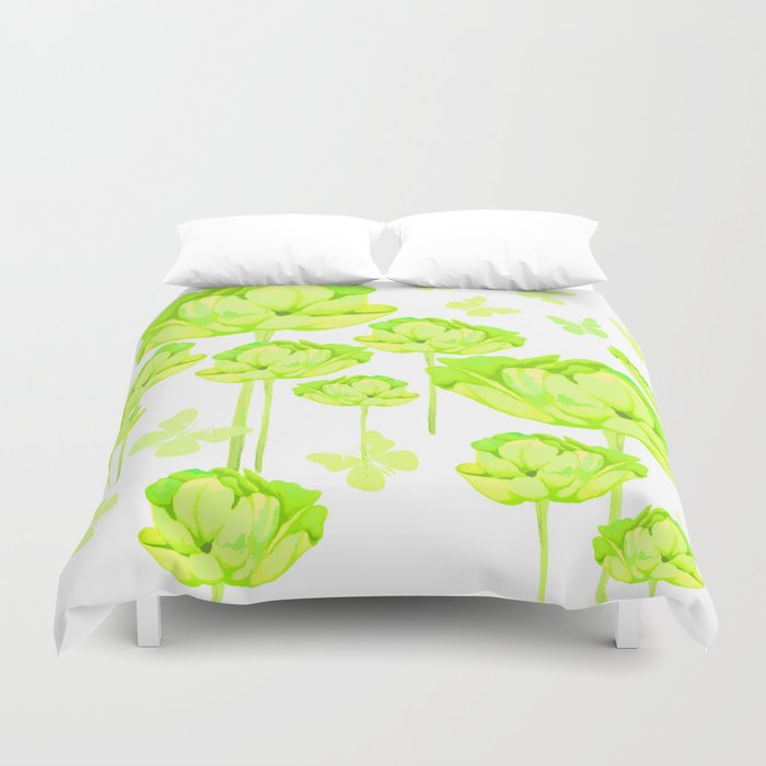 Floral. Drop of summer... Duvet Cover