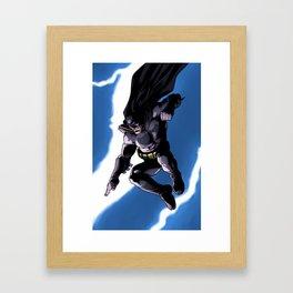 A Dark and Stormy Knight Framed Art Print