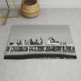 Downtown Louisville - Black and White Rug