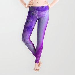 Magically Purple Agate Druzy Leggings