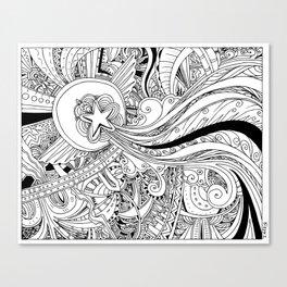 Traveling Star Canvas Print
