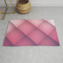 Claret, Pink and White Mosaic Background Rug