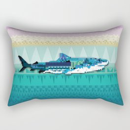 Paralleloshark Rectangular Pillow