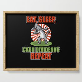 Dab Dabbing Gold Donkey Dividends From Stock Loves Serving Tray