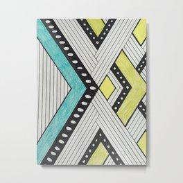 Color Block Stripes Metal Print