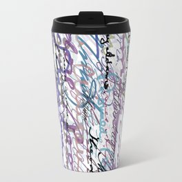 All The Presidents Signatures Blue Rose Travel Mug