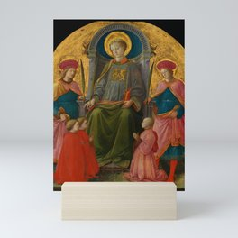 """Fra Filippo Lippi """"Saint Lawrence Enthroned with Saints and Donors"""" Mini Art Print"""