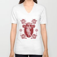china V-neck T-shirts featuring Imperial China by Vannina