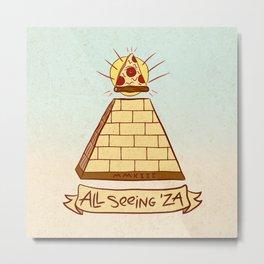 THE ALL SEEING 'ZA Metal Print