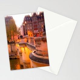 Paris Pont Neuf at Dusk Stationery Cards