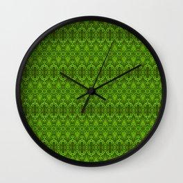 Emerald Damask Pattern Wall Clock