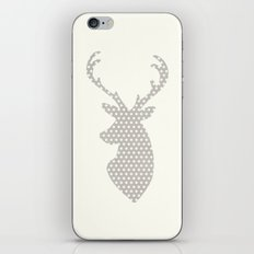 Deer head, art, polka dot, modern, vintage iPhone & iPod Skin