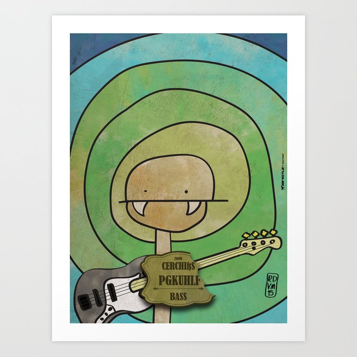 Pgkhlf from Cerchiks (Bass) Art Print