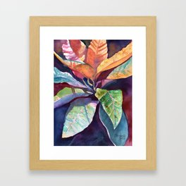 Colorful Tropical Leaves 3 Framed Art Print