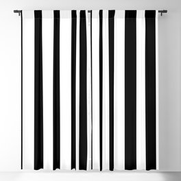 Parisian Black & White Stripes (vertical) Blackout Curtain