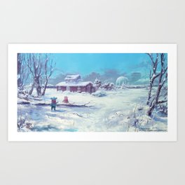 A Winter Scene, Alterslavia Art Print