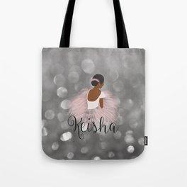 African American Ballerina Dancer Personalized Name KEISHA Tote Bag