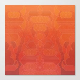 Round and About Coral Canvas Print