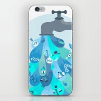 splash iPhone & iPod Skins featuring Splash by Lienke Raben